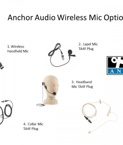 Select 1 of 5 Wireless Mic Options