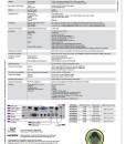Casio Laser LED Projector XJ-M146 Spec Sheet pg2