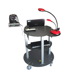 GORILLAdigitasl Lecture Capture Cart Secures all Equipment